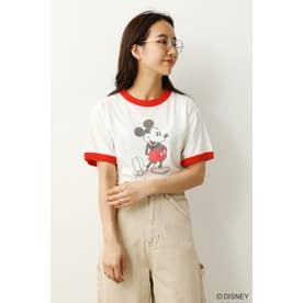 (Mickey)リンガーTシャツ (レッド)