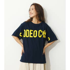 オーバーロゴTシャツ (ネイビー)