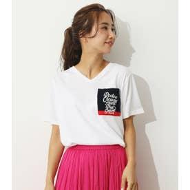 PGCニットポケットVネックTシャツ (ホワイト)