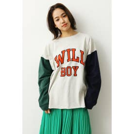 バリエーションロングTシャツ (ライトグレー)