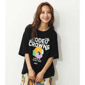 0528 BIG FLOWER Tシャツ (ブラック)