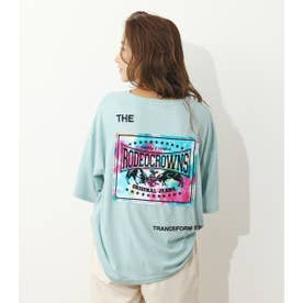 Tiedee patchビッグTシャツ SAX
