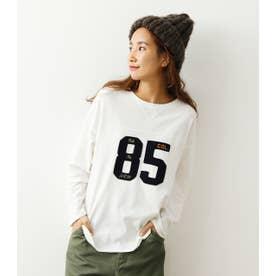 ナンバーフットボールL/STシャツ O/WHT1