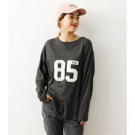 ナンバーフットボールL/STシャツ BLK