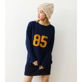 ナンバーフットボールL/STシャツ NVY