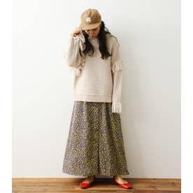 ミニフローラルマキシスカート 柄YEL5