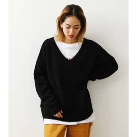 KNIT & L/Tレイヤードセット BLK