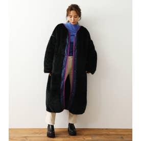 Faux Fur Quilt Reversible コート BLK