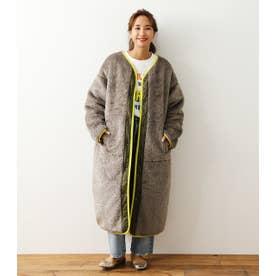 Faux Fur Quilt Reversible コート L/GRY1