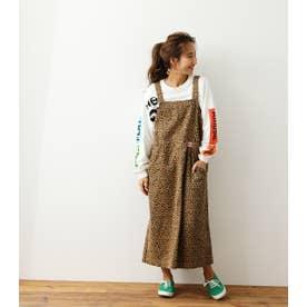 ルーズジャンパースカート 柄BRN5