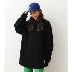 SHARE WAFFLE L/S Tシャツ BLK