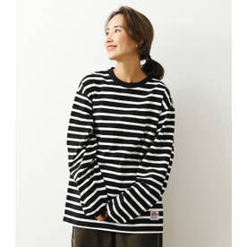 SHARE LOOSE BORDER L/S Tシャツ 柄BLK5