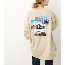 USフォト ロングTシャツ BEG