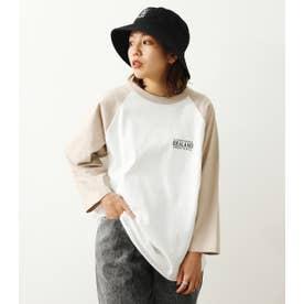 IDEALANDラグランL/S Tシャツ BEG