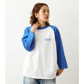 IDEALANDラグランL/S Tシャツ BLU