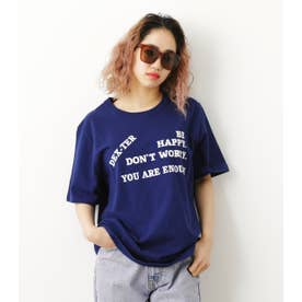 BE HAPPY Tシャツ NVY
