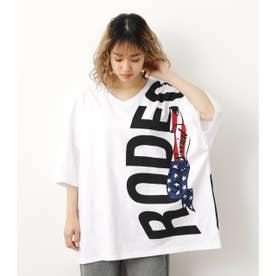 バリエーションリボンロゴTシャツ WHT