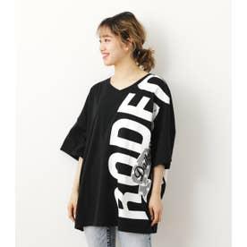 バリエーションリボンロゴTシャツ BLK