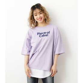 メッセージTシャツタンクセット L/PUR1