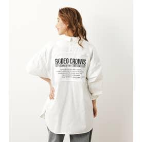 バックオープンパッチシャツ O/WHT1