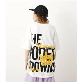 CROWN LOGO ニットTシャツ O/WHT1
