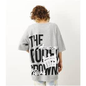 CROWN LOGO ニットTシャツ T.GRY