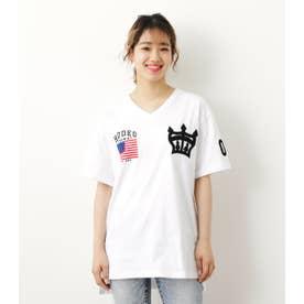 クラウン刺繍Tシャツ WHT