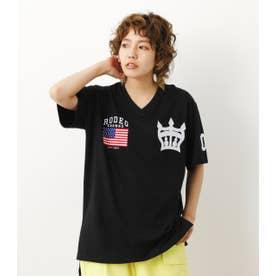 クラウン刺繍Tシャツ BLK