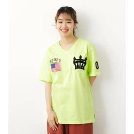クラウン刺繍Tシャツ LIME