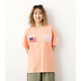 クラウン刺繍Tシャツ L/ORG1