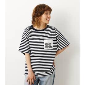 ロゴポケットTシャツ 柄NVY5