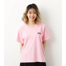 LOGO VネックTシャツ L/PNK1