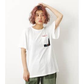バックリボンTシャツ O/WHT1