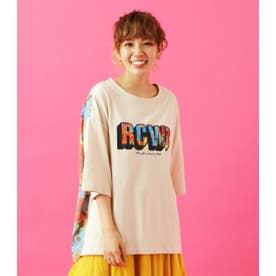 0528RCWBフラワーTシャツWL 柄BEG5