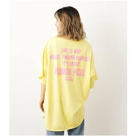 neon logo Tシャツ L/YEL1