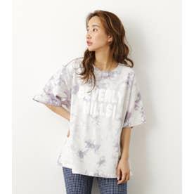Solid tie dye Tシャツ L/GRY1