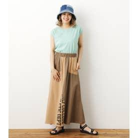 リメイクロングスカート 柄BEG5