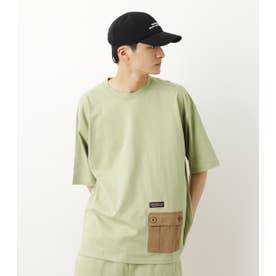 異素材ポケット TシャツWL KHA