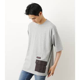異素材ポケット TシャツWL T.GRY