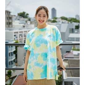 タイダイビッグTシャツWL 柄BLU5