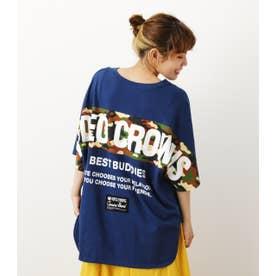 パターンラインTシャツ NVY