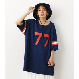 line sleeve relax tee NVY