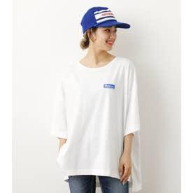 ビッグオーバルパッチTシャツ WHT