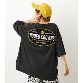 ビッグオーバルパッチTシャツ BLK