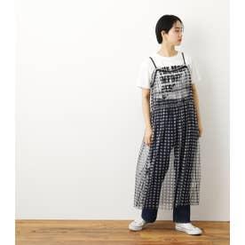 チュールワンピ&TシャツセットWL 柄BLK5