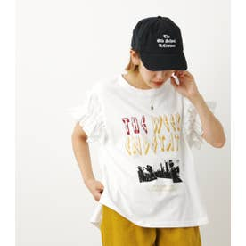 異素材スリーブROCKTシャツWL WHT