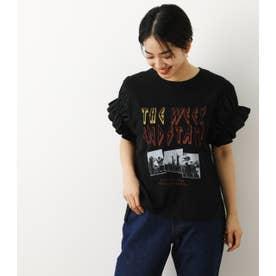 異素材スリーブROCKTシャツWL BLK