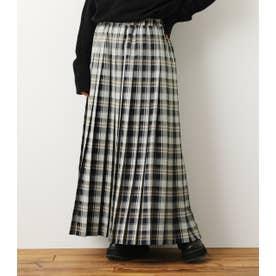 チェックプリーツスカート 柄NVY5