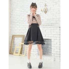 裾2段チュールSK (ブラック)