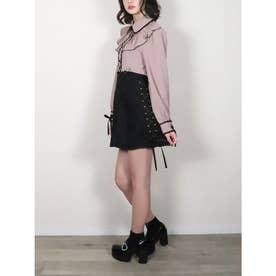 Flowerレーススカート (ブラック)